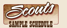 Scouts Sample Schedule
