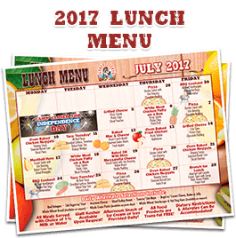 2017 Lunch Menu