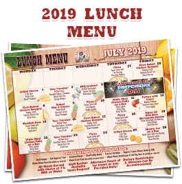 2019 Lunch Menu