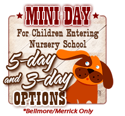 5-day and 3-day Mini Day Options for Children Entering Nursery School