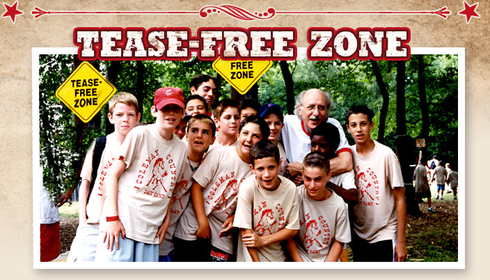 Coleman Country Day Camp Tease Free Zone